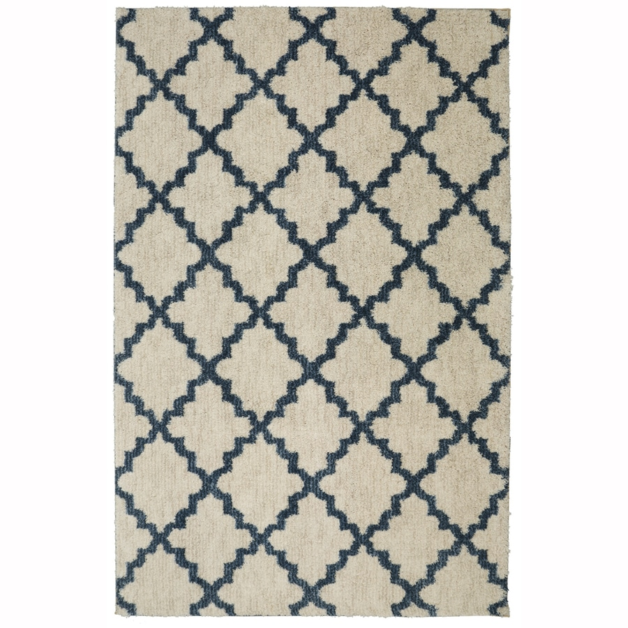 allen + roth Briarwick Dark Slate Rectangular Indoor Woven Area Rug (Common: 8 x 10; Actual: 96-in W x 120-in L x 0.5-ft dia)