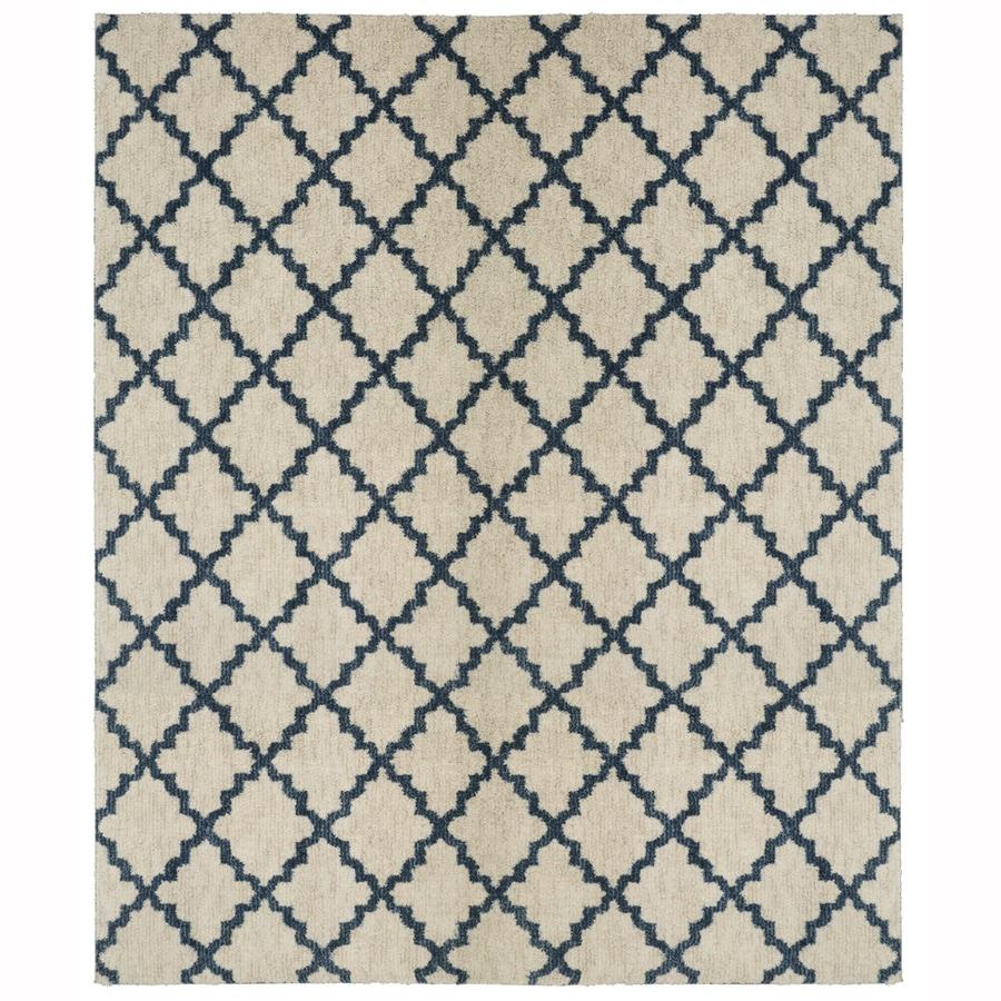 Allen + Roth Dark Slate Rectangular Indoor Woven Area Rug (Common: 10 X 13