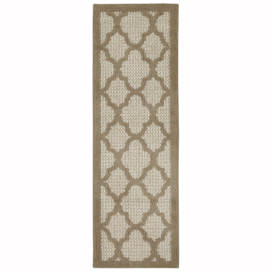 Mohawk Home Pekoe Beige/Starch/Biscuit Rectangular Indoor Tufted Runner (Common: 2 x 5; Actual: 1.75-ft W x 5-ft L x 2-ft Dia)