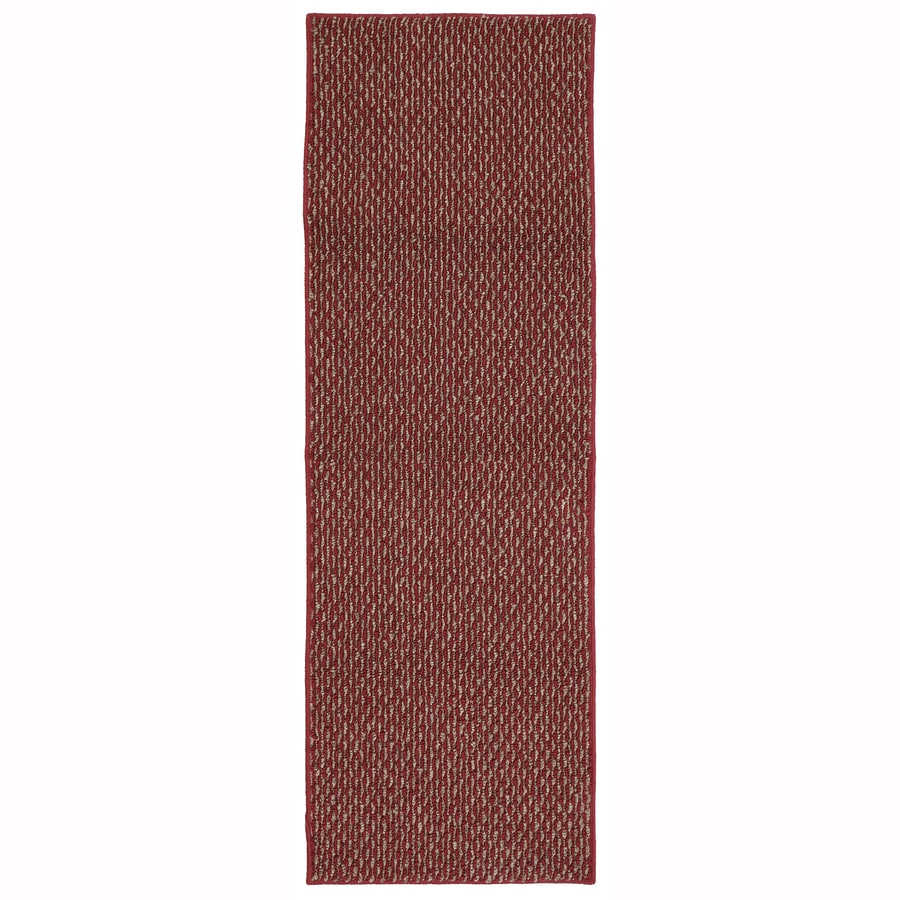 Mohawk Home Calliope Crimson/Butternut Rectangular Indoor Tufted Runner (Common: 2 x 5; Actual: 1.75-ft W x 5-ft L x 2-ft Dia)