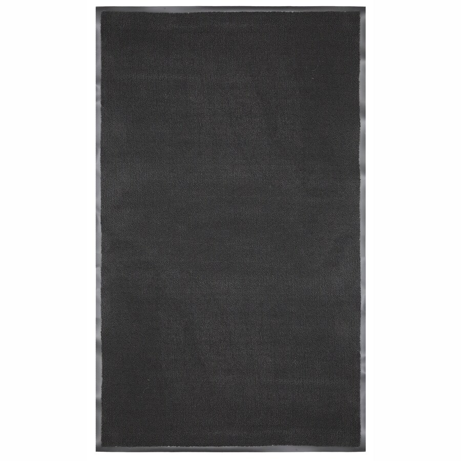 Mohawk Home Walk Off Black Rectangular Door Mat (Common: 4 Ft X