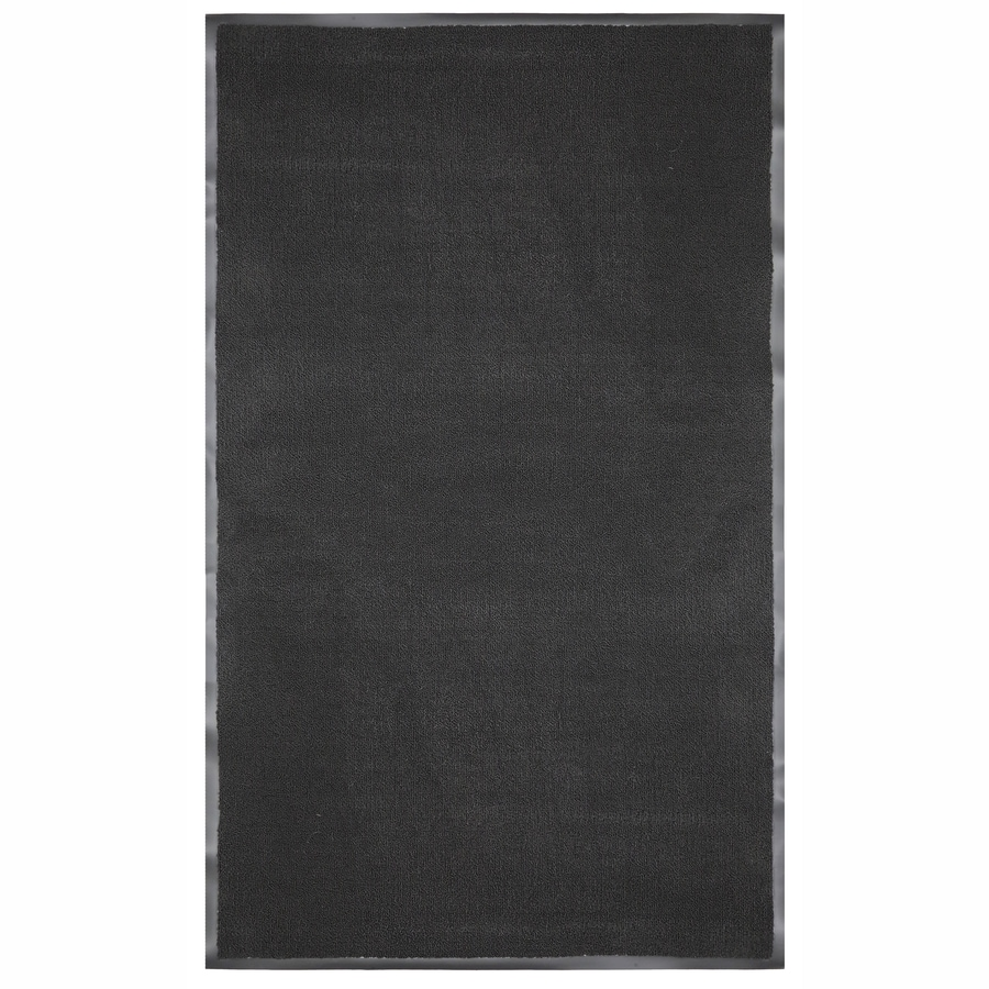 Mohawk Home Black Rectangular Door Mat (Common: 48-in x 72-in; Actual: 48-in x 72-in)