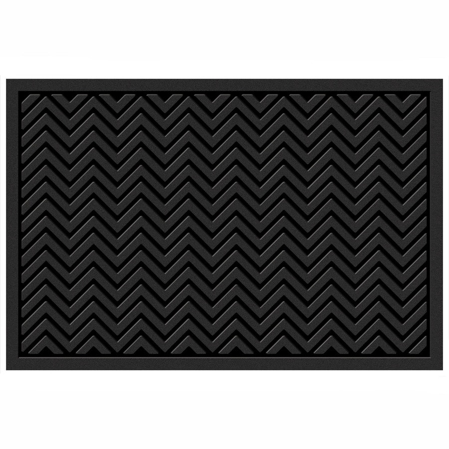 Mohawk Home Chevrons Matrix Black Rectangular Door Mat
