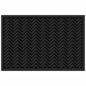 Mohawk Home Chevrons Matrix Black Rectangular Door Mat Common 4 Ft X 6