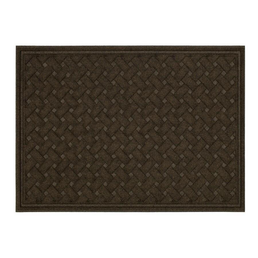 Mohawk Home Brown Rectangular Door Mat (Common: 3-ft x 5-ft; Actual: 36-in x 60-in)