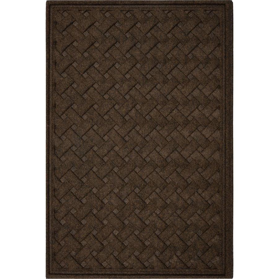 Mohawk Home Chocolate Rectangular Door Mat (Common: 48-in x 72-in; Actual: 48-in x 72-in)