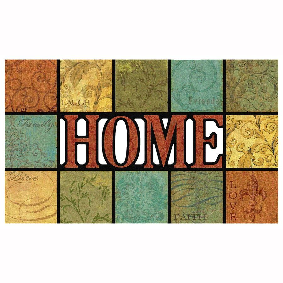 Mohawk Home Brown Rectangular Door Mat (Common: 1-1/2-ft x 2-1/2-ft; Actual: 18-in x 30-in)