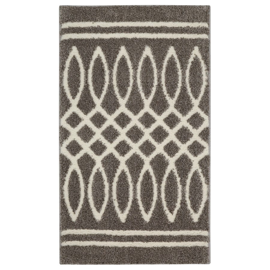 allen + roth Swept Away Grey Rectangular Indoor Woven Throw Rug (Common: 2 x 4; Actual: 2.1-ft W x 3.6-ft L x 0.5-ft Dia)