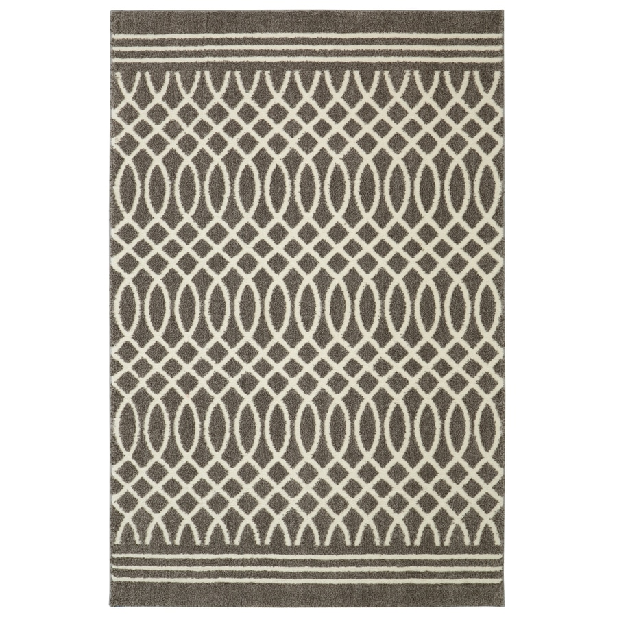 allen + roth Tiber Grey Rectangular Indoor Woven Throw Rug (Common: 5 x 8; Actual: 60-in W x 96-in L x 0.5-ft Dia)