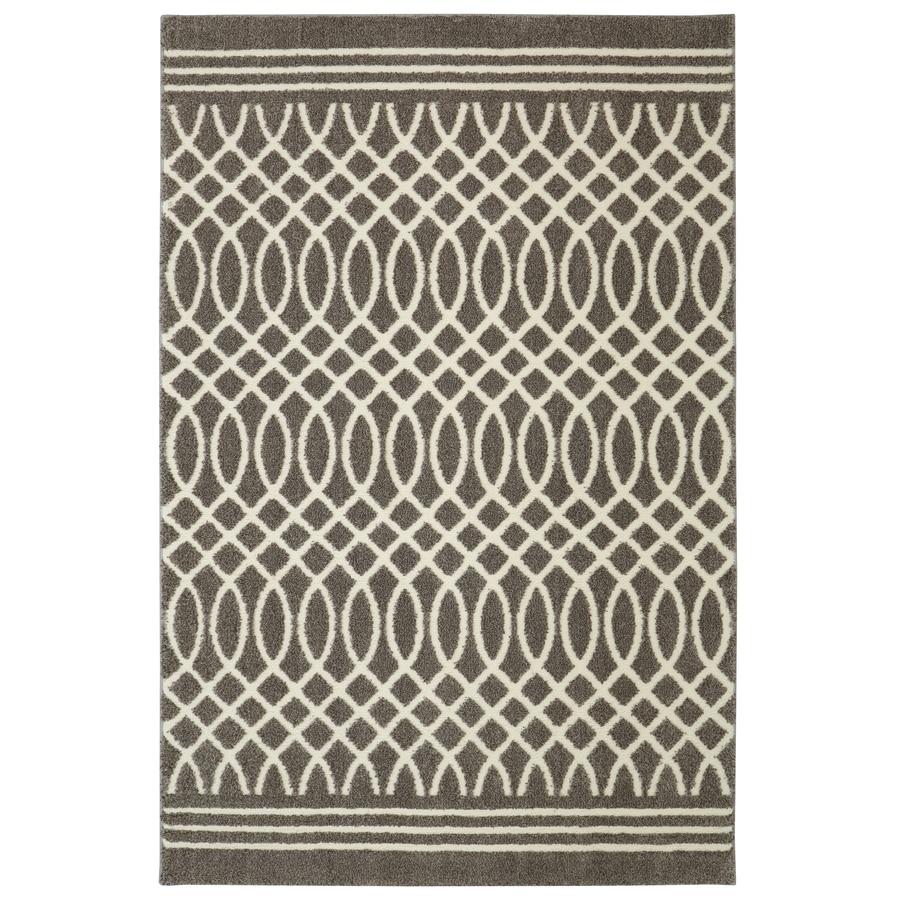 allen + roth Tiber Grey Rectangular Indoor Woven Runner (Common: 8 x 10; Actual: 96-in W x 120-in L x 0.5-ft dia)