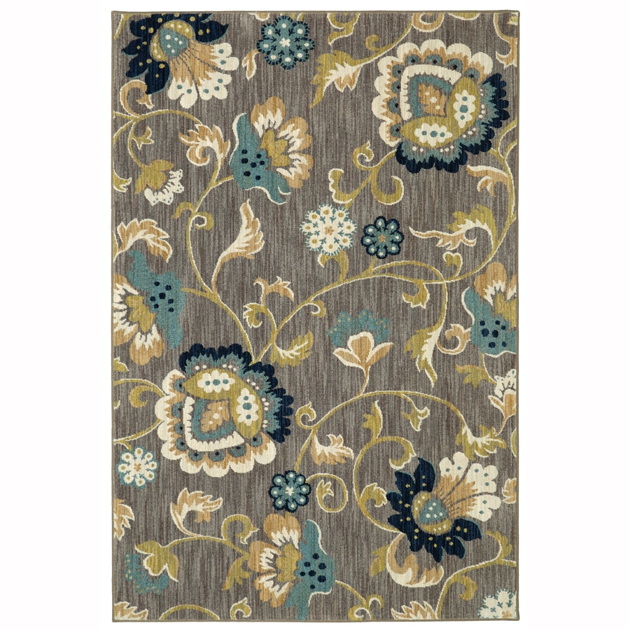 allen + roth Sheltstone Taupe Rectangular Indoor Woven Area Rug (Common: 5 x 8; Actual: 5.3-ft W x 7.83-ft L x 0.5-ft Dia)