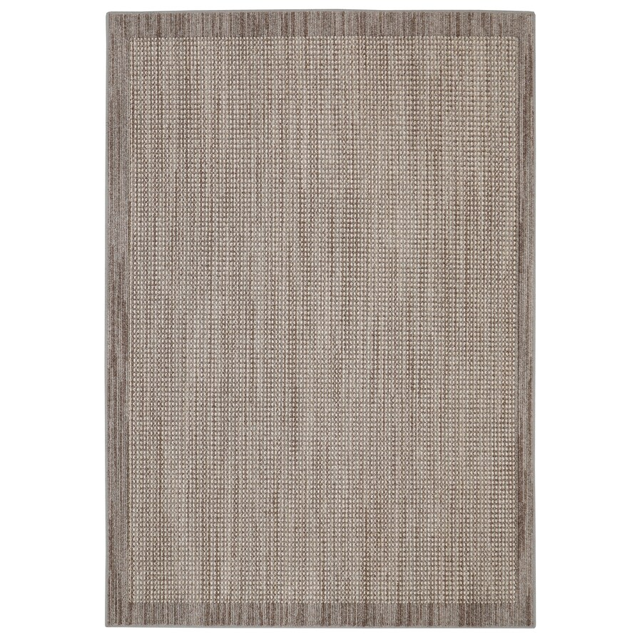 Shop Mohawk Home Topaz Taupe Rectangular Indoor Machine-Made Inspirational Area Rug (Common: 8 x ...