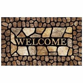 Mohawk Home Pebble Border Welcome Rectangular Door Mat (Common: 1-1/2-ft x 2-1/2-ft; Actual: 18-in x 30-in)