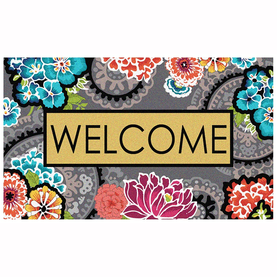 Merveilleux Mohawk Home Ethereal Welcome Rectangular Door Mat (Common: 1 1/2