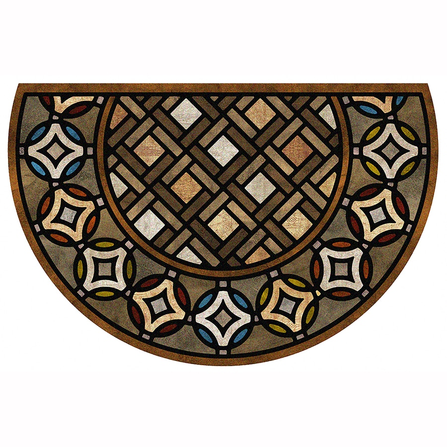 Mohawk Home Semicircle Door Mat (Common: 2-ft x 3-ft;
