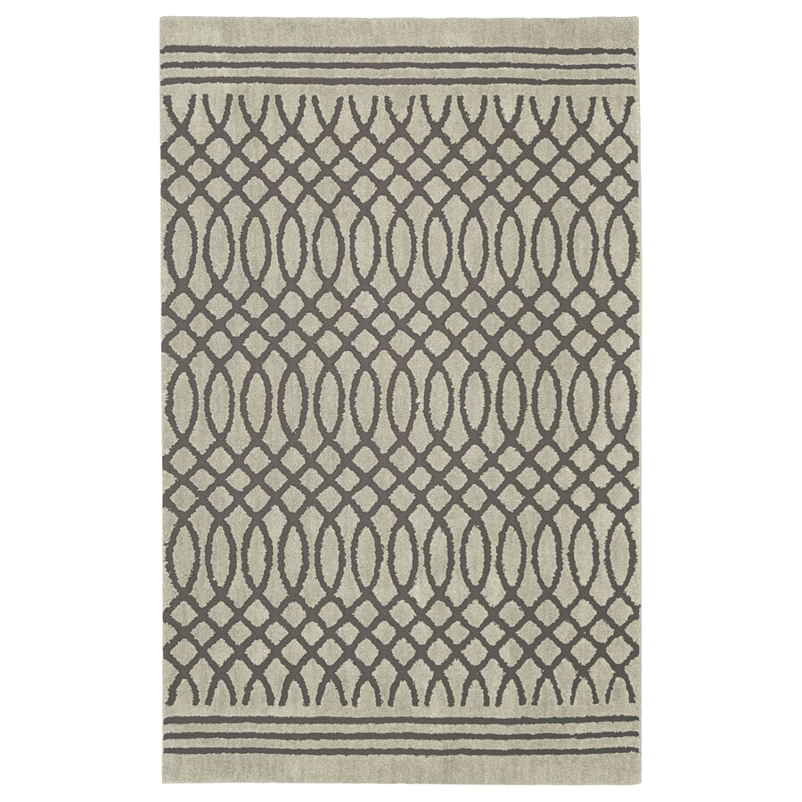 allen + roth Tiber Grey Rectangular Indoor Woven Area Rug (Common: 10 x 13; Actual: 10-ft W x 13-ft L x 0.5-ft Dia)
