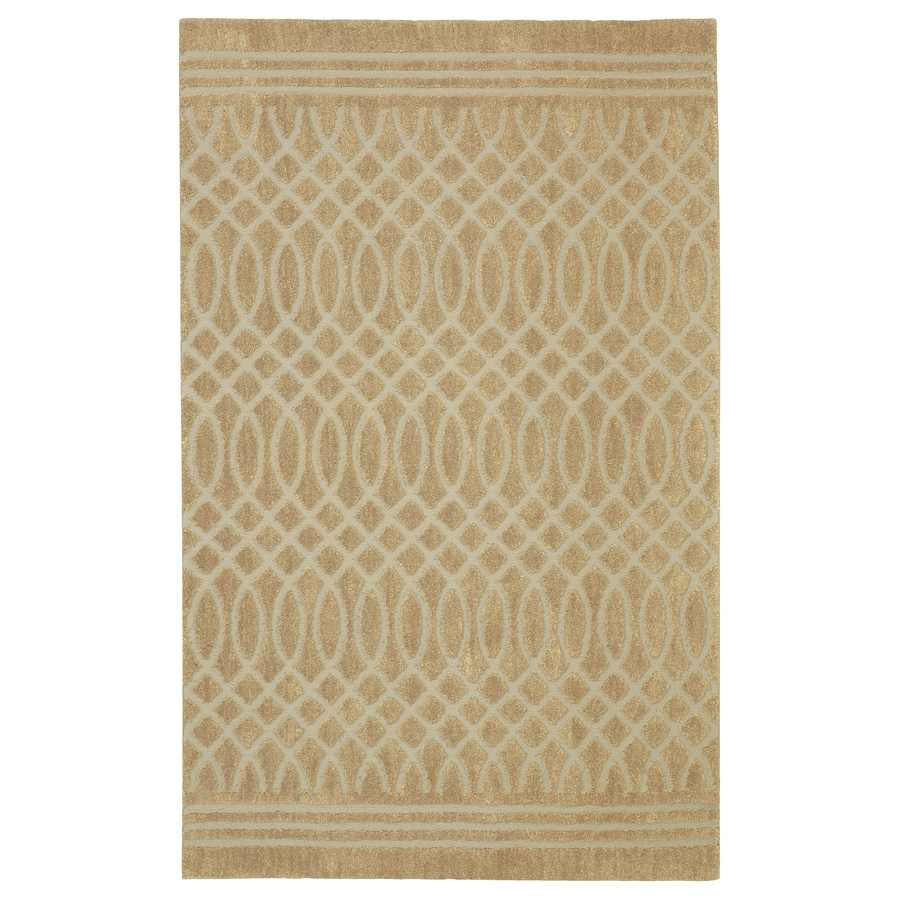 allen + roth Tiber Almond Buff Rectangular Indoor Machine-Made Inspirational Area Rug (Common: 5 x 8; Actual: 5-ft W x 8-ft L x 0.5-ft dia)