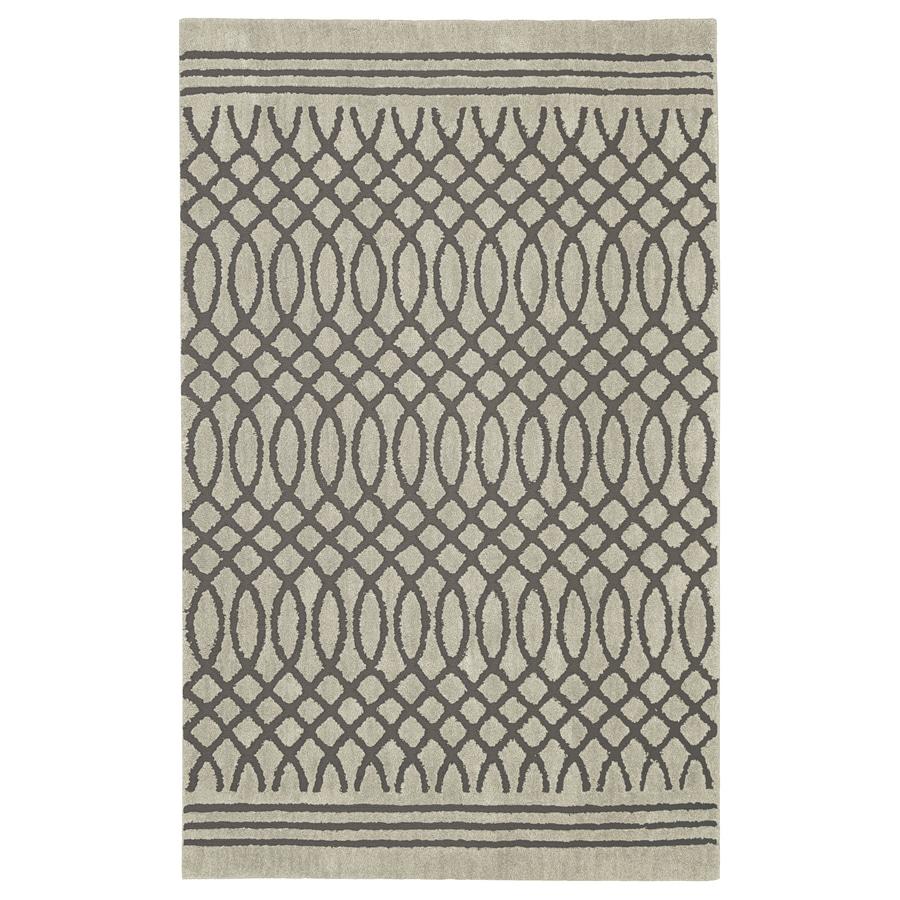 allen + roth Tiber Light Grey Rectangular Indoor Woven Area Rug (Common: 2 x 8; Actual: 2.1-ft W x 7.1-ft L x 0.5-ft Dia)