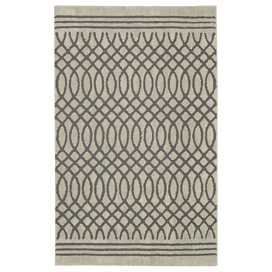 allen + roth Tiber Light Grey Rectangular Indoor Woven Area Rug (Common: 8 x 10; Actual: 96-in W x 120-in L x 0.5-ft dia)