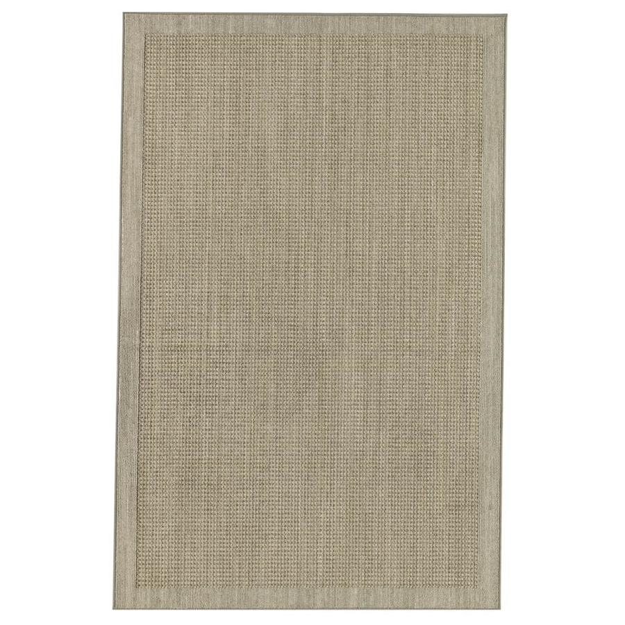 Mohawk Home Topaz Grey/Taupe Rectangular Indoor Machine-Made Inspirational Area Rug (Common: 5 x 8; Actual: 5-ft W x 8-ft L x 0.5-ft dia)