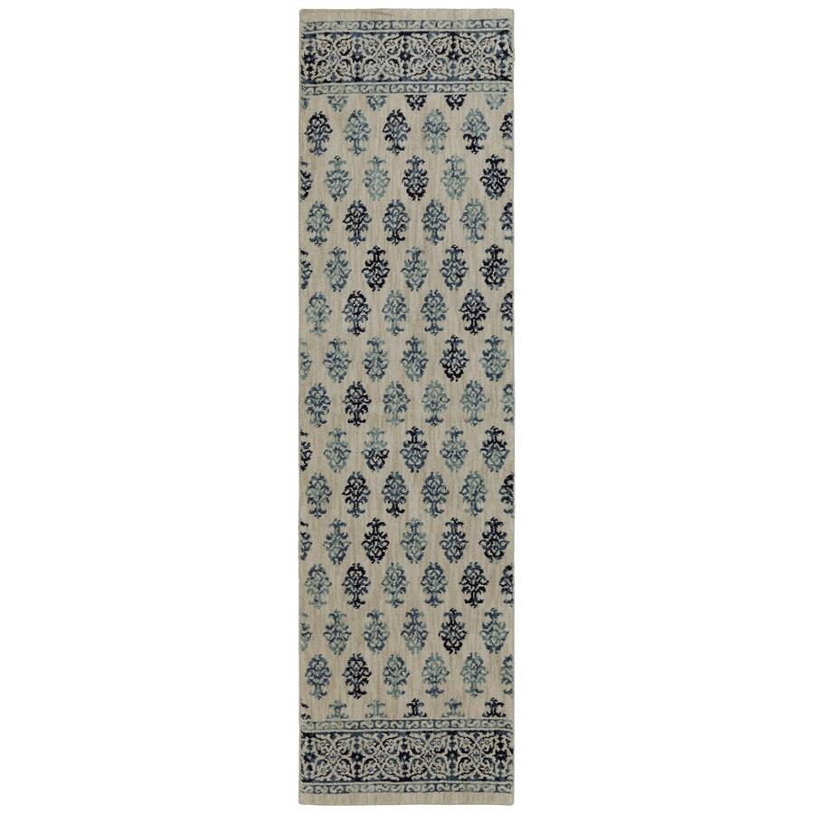 allen + roth Kincora Beige Rectangular Indoor Woven Runner (Common: 2 x 8; Actual: 25-in W x 94-in L x 0.5-ft dia)