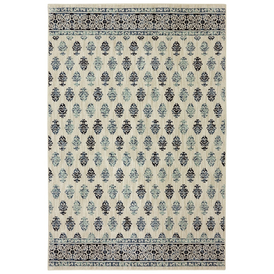 allen + roth Kincora Beige Rectangular Indoor Woven Area Rug (Common: 5 x 8; Actual: 63-in W x 94-in L x 0.5-ft Dia)