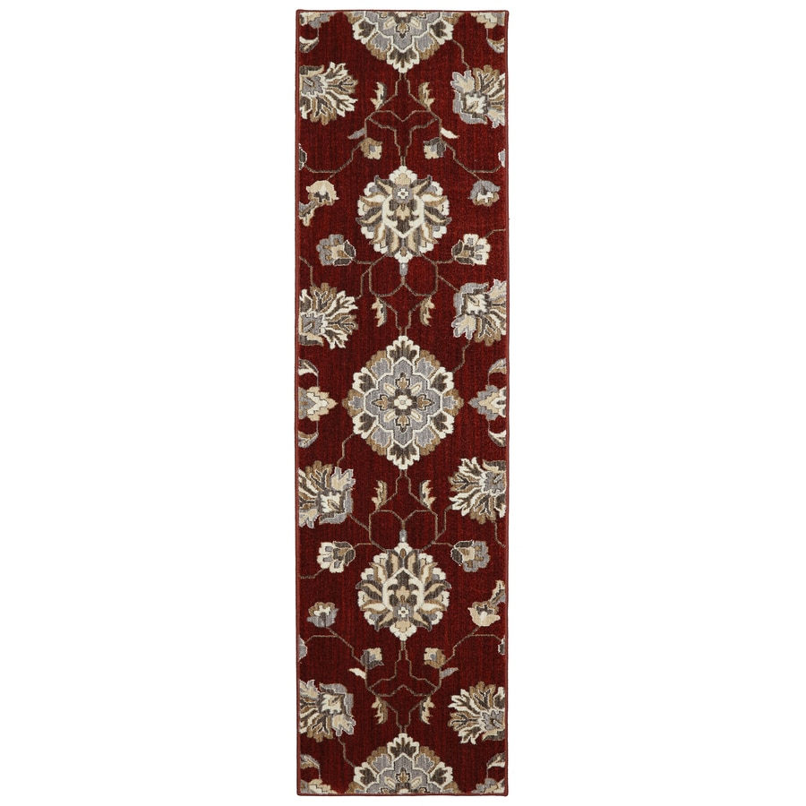 allen + roth Telgany Garnet Rectangular Indoor Woven Runner (Common: 2 x 8; Actual: 25-in W x 94-in L x 0.5-ft dia)