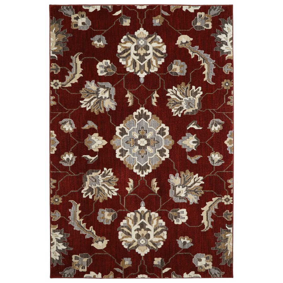 allen + roth Telgany Garnet Rectangular Indoor Woven Area Rug (Common: 8 x 10; Actual: 8-ft W x 10-ft L x 0.5-ft Dia)