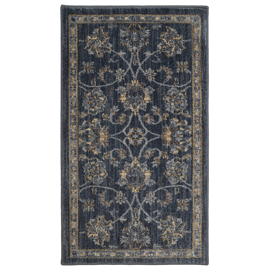 allen + roth Isburg Denim Rectangular Indoor Woven Throw Rug (Common: 2 x 4; Actual: 25-in W x 44-in L)