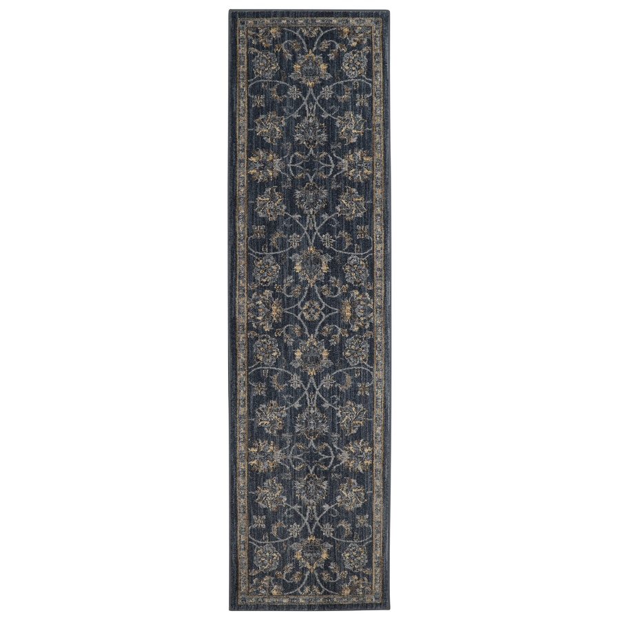 allen + roth Isburg Denim Rectangular Indoor Woven Runner (Common: 2 x 8; Actual: 25-in W x 94-in L)