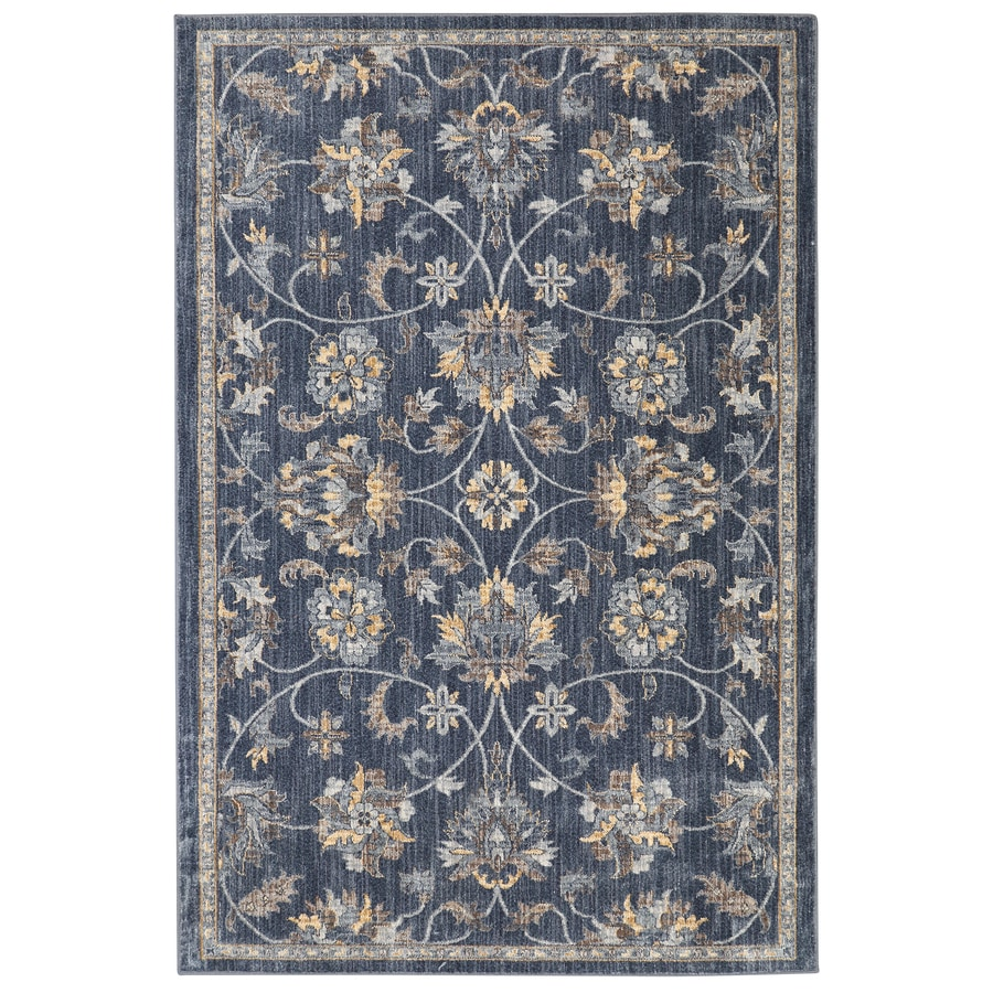 allen + roth Isburg Denim Rectangular Indoor Woven Area Rug (Common: 5 x 8; Actual: 63-in W x 94-in L)