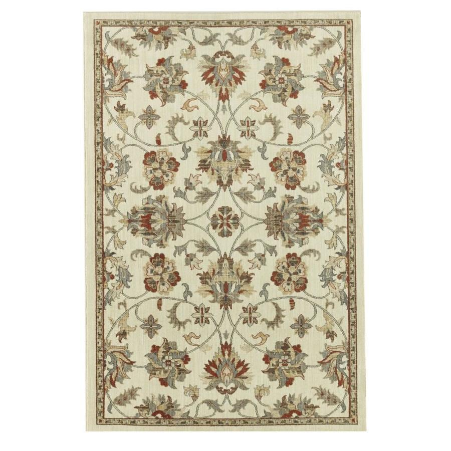 allen + roth Isburg Beige Rectangular Indoor Woven Area Rug (Common: 8 x 10; Actual: 96-in W x 120-in L)