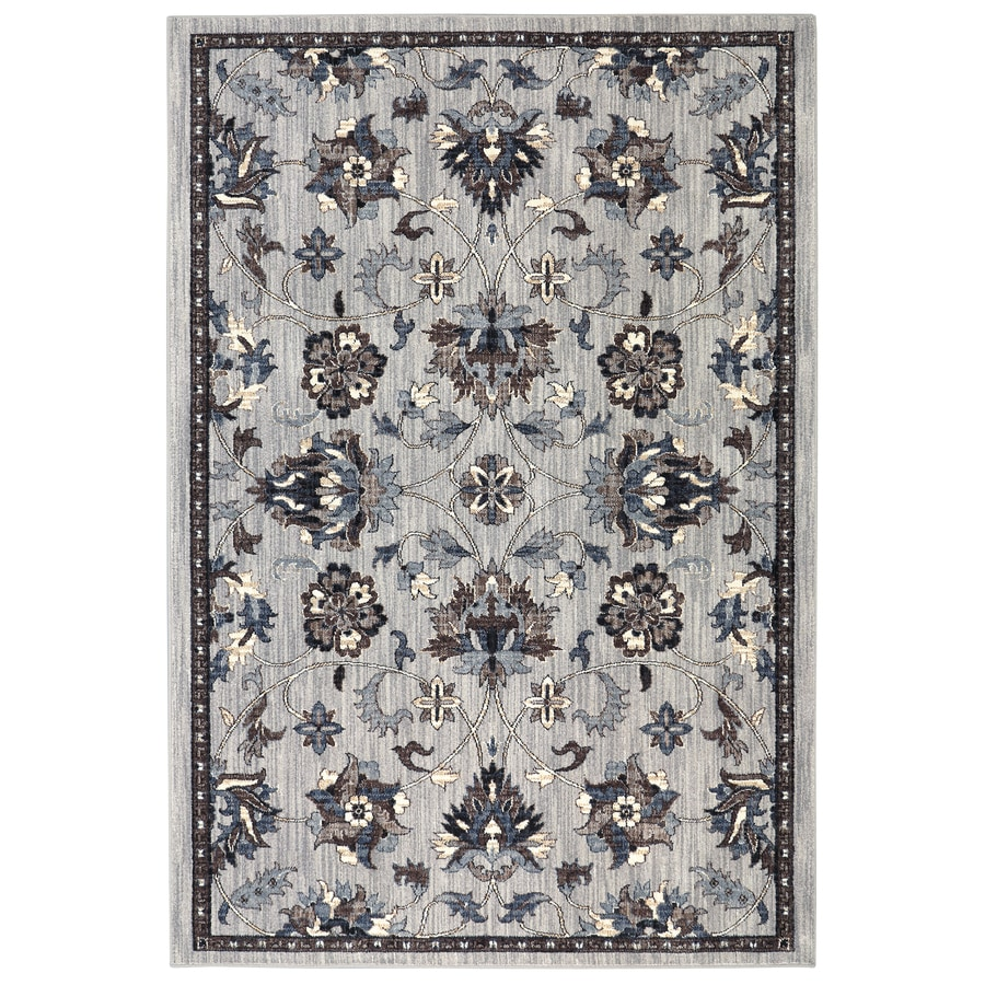 Allen + Roth Isburg Grey Rectangular Indoor Woven Area Rug (Common: 5 X 8