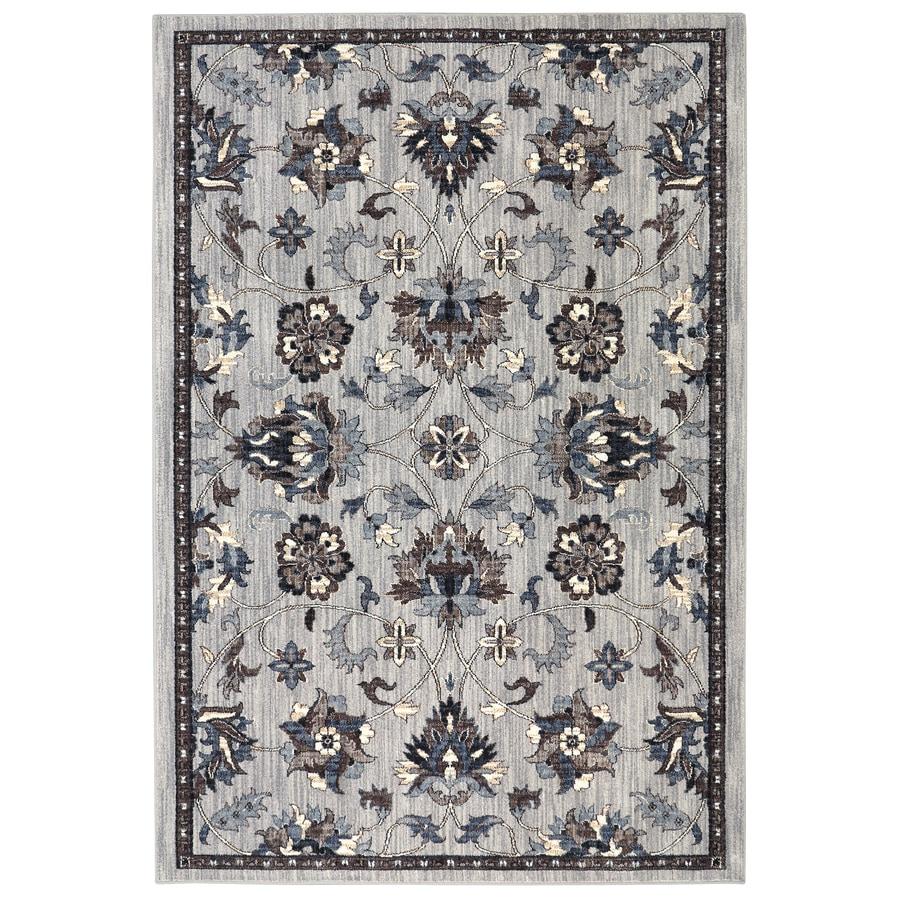 allen + roth Isburg Grey Rectangular Indoor Woven Area Rug (Common: 10 x 13; Actual: 10-ft W x 13-ft L)