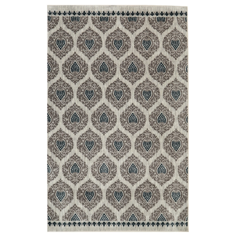 mohawk home bethania blue rectangular indoor tufted area rug common 8 x 10 - Mohawk Area Rugs
