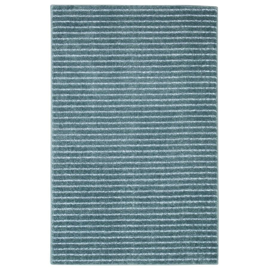 allen + roth Cattar Deinim Blue Rectangular Indoor Machine-Made Coastal Throw Rug (Common: 2 x 4; Actual: 2-ft W x 3.4-ft L)