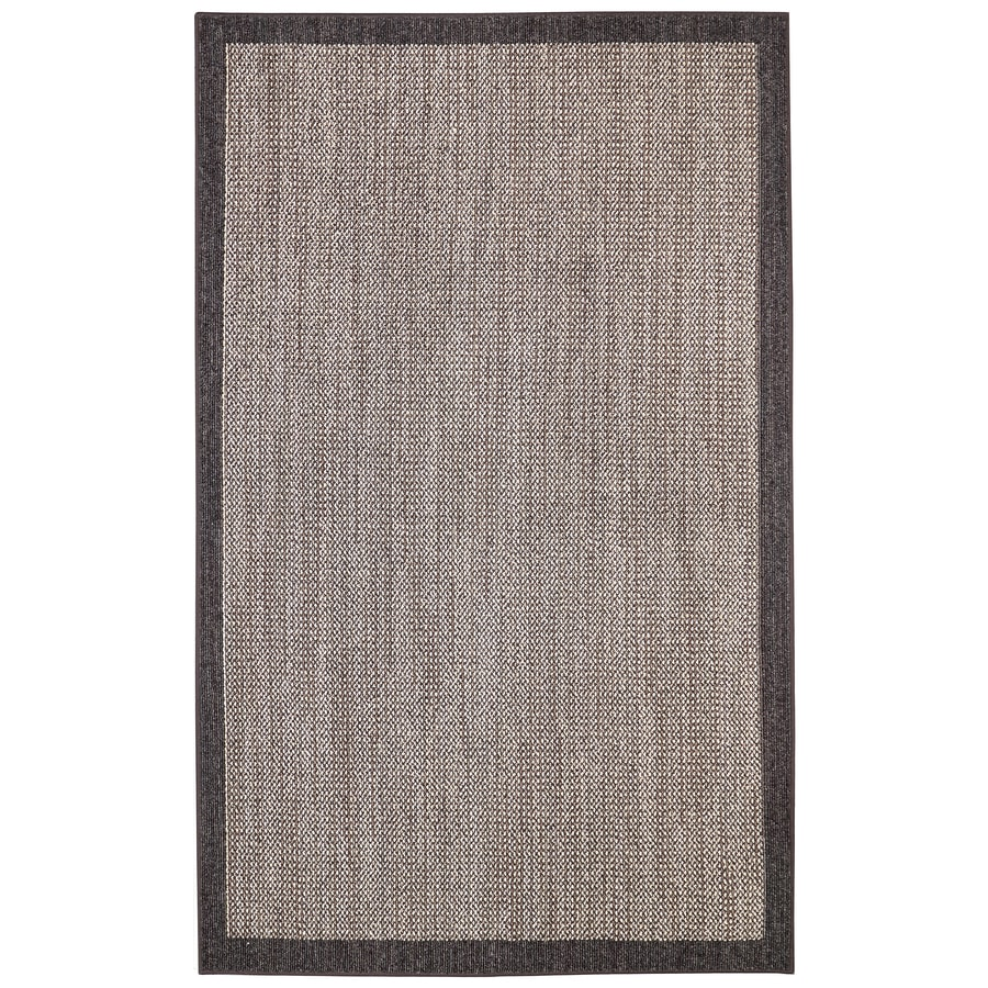 Mohawk Home Topaz Charcoal/Taupe Rectangular Indoor Machine-Made Inspirational Area Rug (Common: 8 x 10; Actual: 8-ft W x 10-ft L x 0.5-ft dia)
