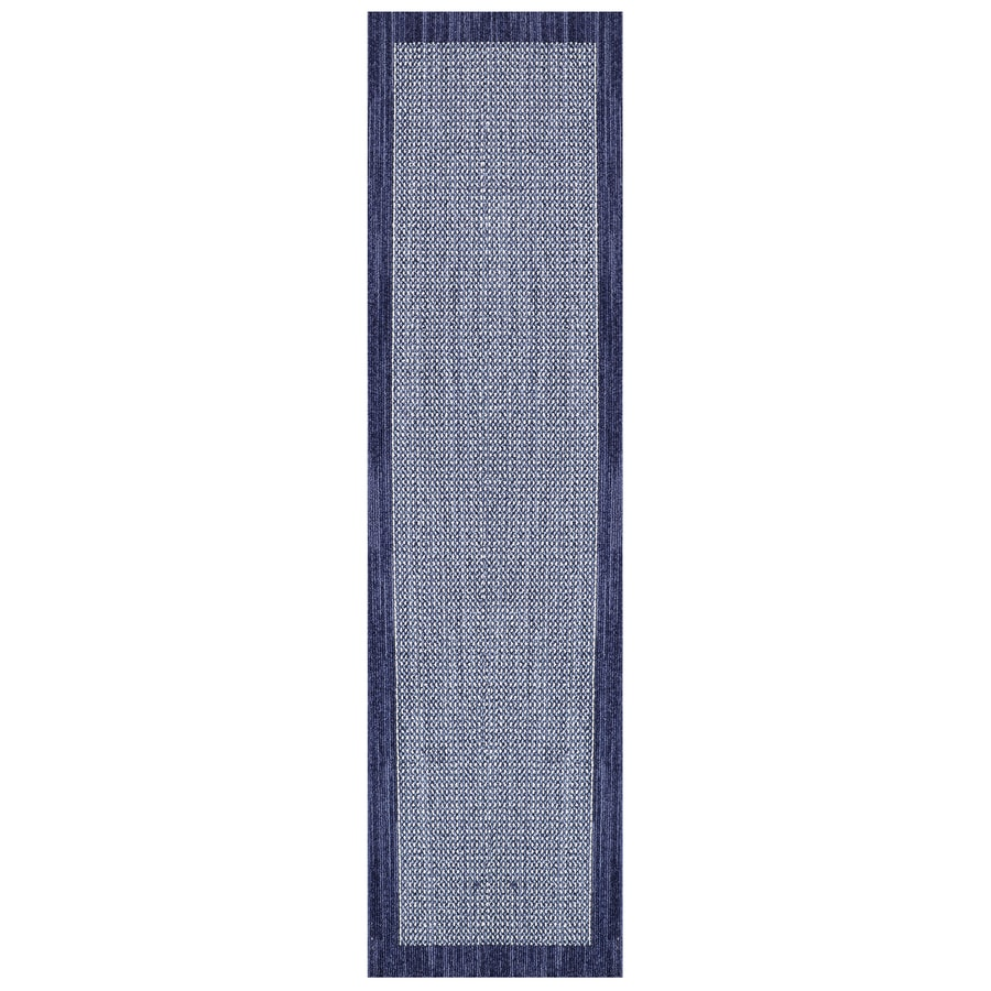 Mohawk Home Topaz Indigo/Blue Rectangular Indoor Machine-Made Inspirational Runner (Common: 2 x 8; Actual: 2-ft W x 8-ft L x 0.5-ft dia)