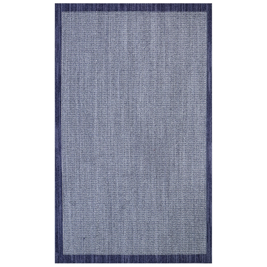 Mohawk Home Topaz Indigo/Blue Rectangular Indoor Machine-Made Inspirational Area Rug (Common: 5 x 8; Actual: 5-ft W x 8-ft L x 0.5-ft dia)