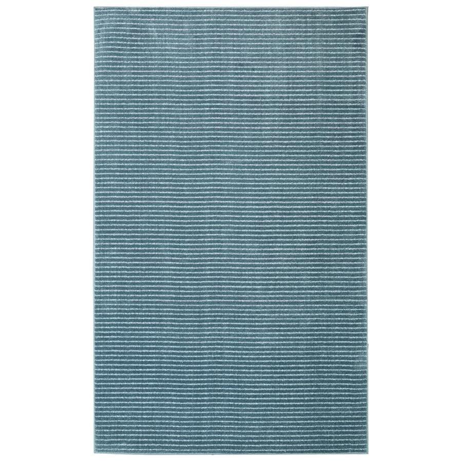 allen + roth Cattar Denim Blue Rectangular Indoor Tufted Area Rug (Common: 10 x 14; Actual: 10-ft W x 14-ft L)