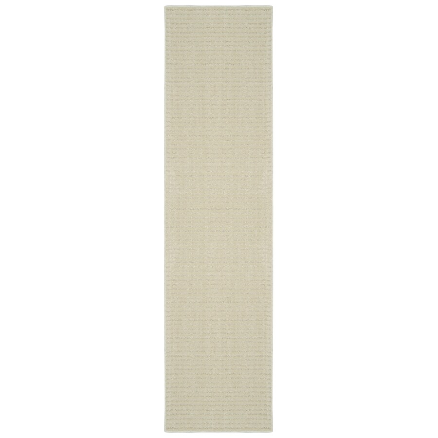 allen + roth Cattar Cream/Beige Rectangular Indoor Tufted Runner (Common: 2 x 8; Actual: 2-ft W x 8-ft L)