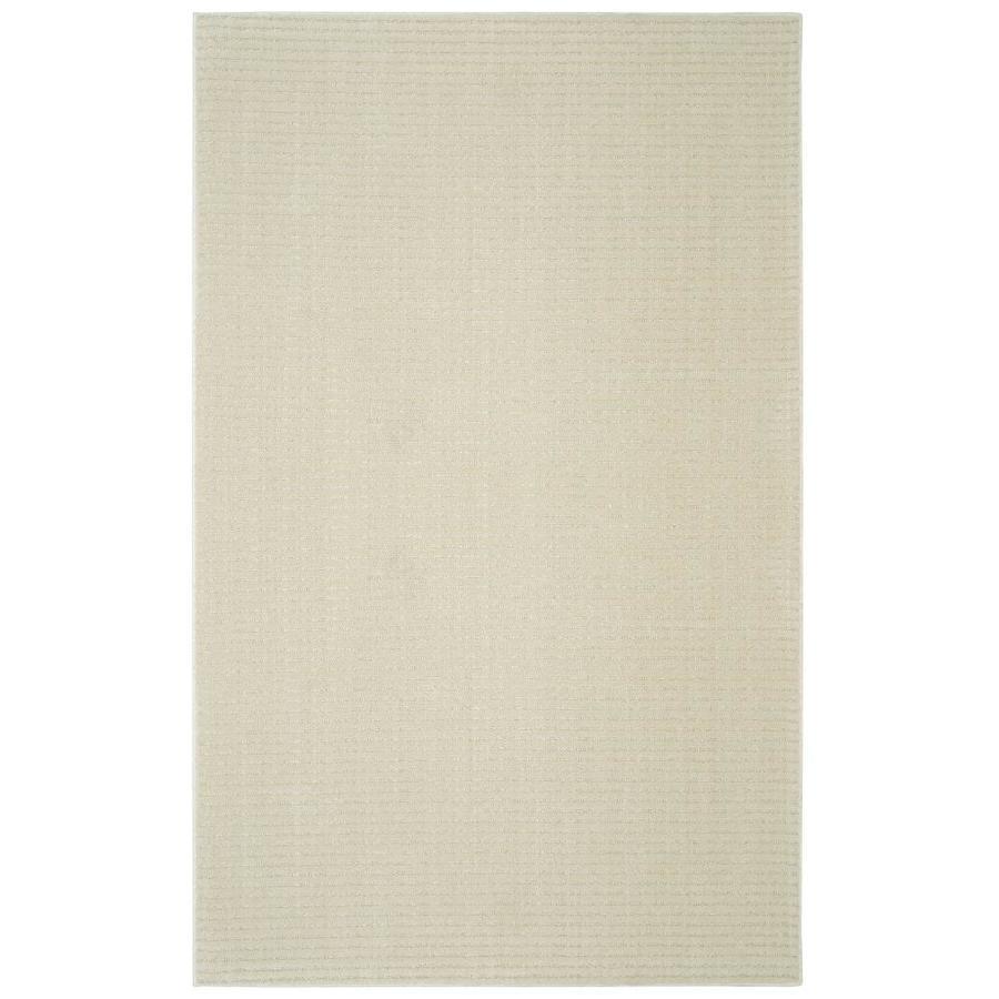 allen + roth Cattar Cream/Beige Rectangular Indoor Tufted Area Rug (Common: 8 x 10; Actual: 8-ft W x 10-ft L)