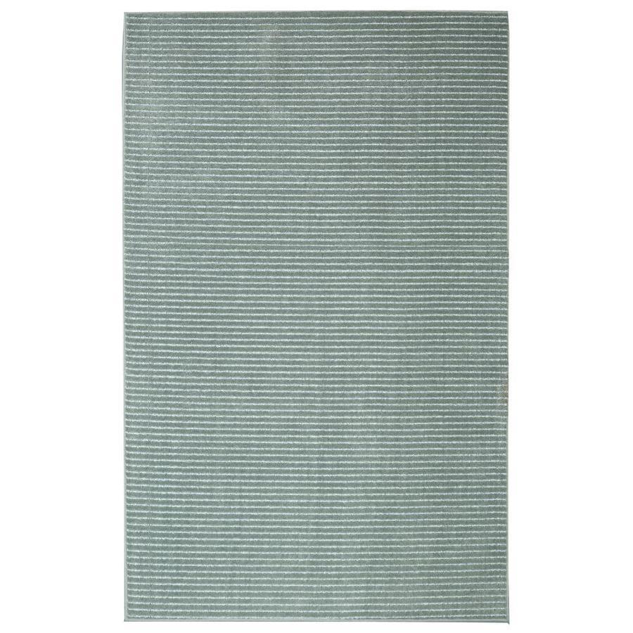 allen + roth Cattar Aqua Rectangular Indoor Tufted Area Rug (Common: 8 x 10; Actual: 96-in W x 120-in L)