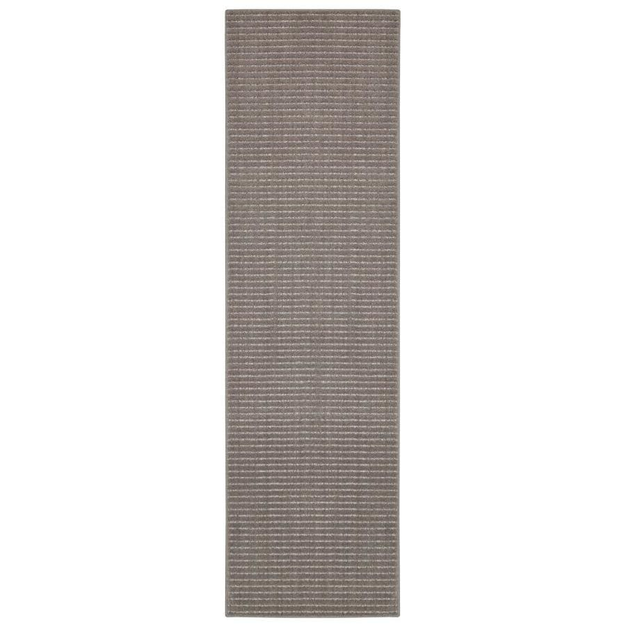allen + roth Cattar Brindle/Gray Indoor Inspirational Runner (Common: 2 x 8; Actual: 2-ft W x 8-ft L x 0.5-ft dia)