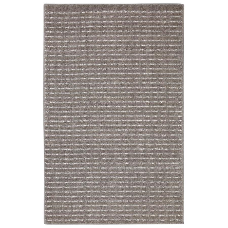 allen + roth Cattar Brindle/Gray Rectangular Indoor Machine-Made Inspirational Area Rug (Common: 5 x 8; Actual: 5-ft W x 8-ft L x 0.5-ft dia)