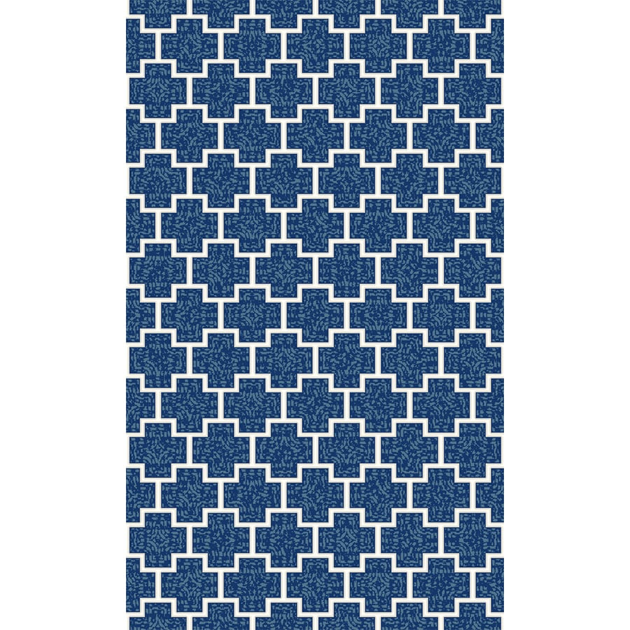 Mohawk Home Btc Simple Plus Navy Rectangular Indoor Tufted Area Rug (Common: 5 x 7; Actual: 5-ft W x 7-ft L x 0.5-ft Dia)
