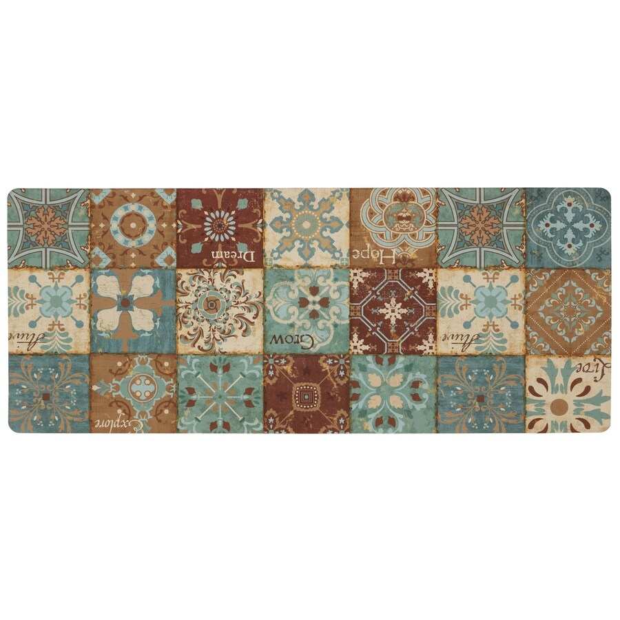 Mohawk Home Blue Rectangular Door Mat (Common: 2-ft x 4-ft