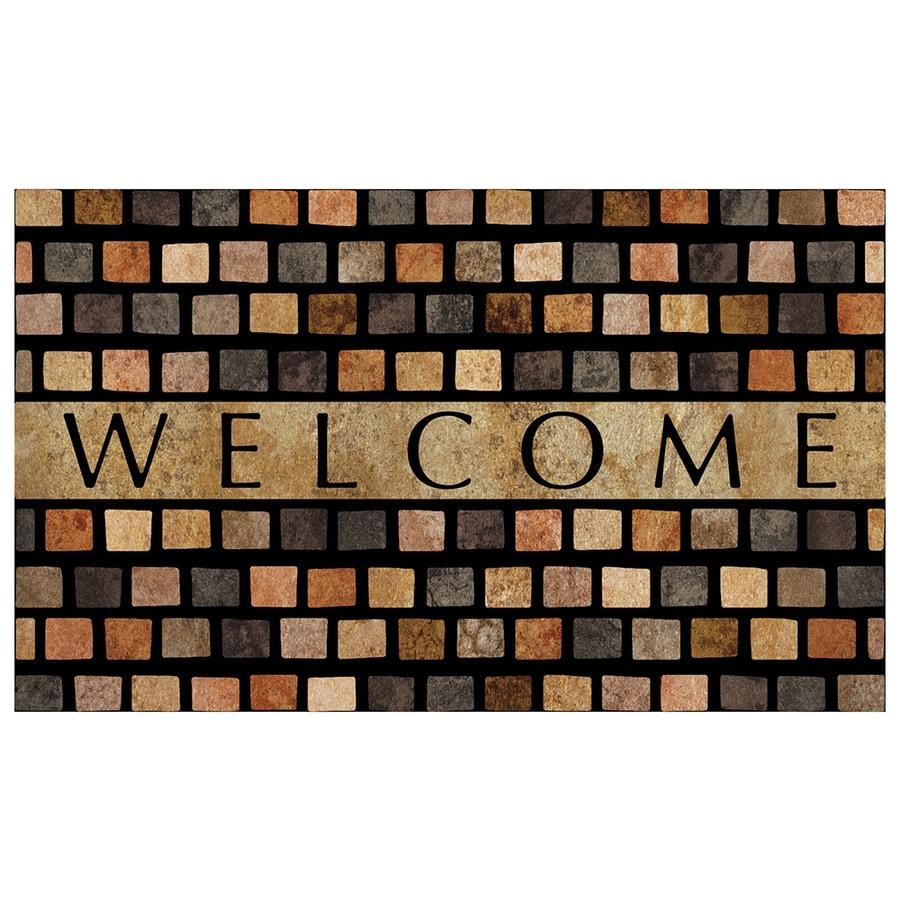 Mohawk Home Off-White Rectangular Door Mat (Common: 1-1/2-ft x 2-1/2-ft; Actual: 18-in x 30-in)
