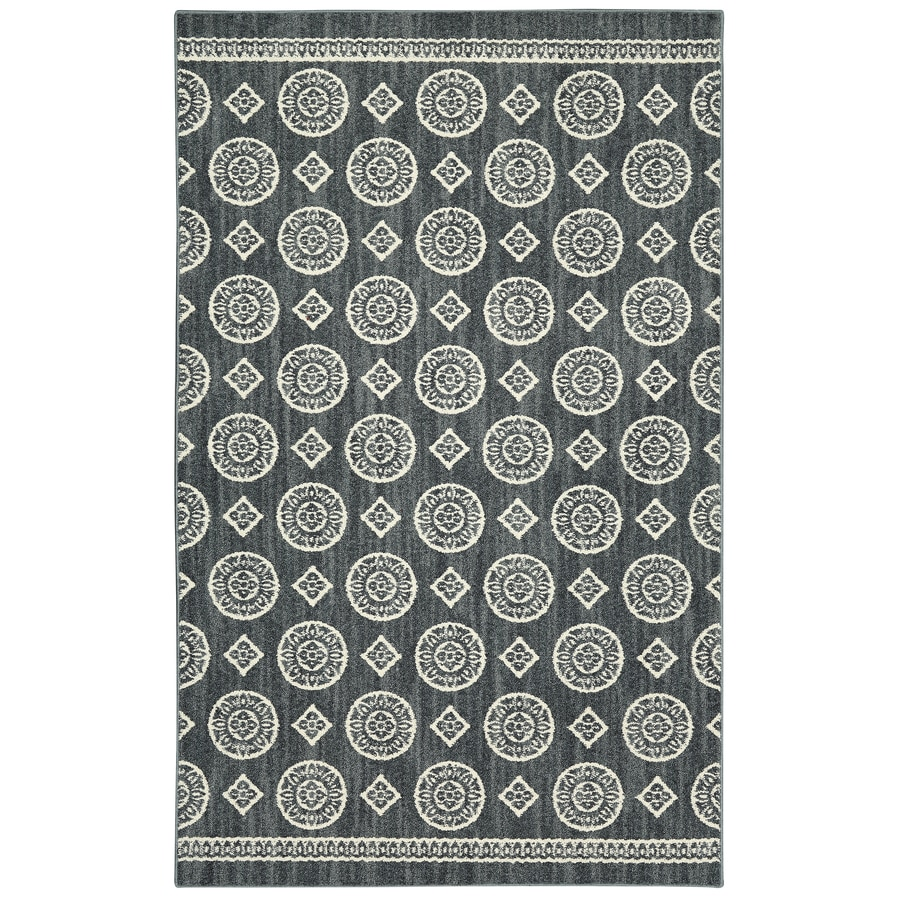 Mohawk Home Colorpoint Denim Rectangular Indoor Tufted Area Rug (Common: 5 x 7; Actual: 60-in W x 84-in L x 0.5-ft Dia)