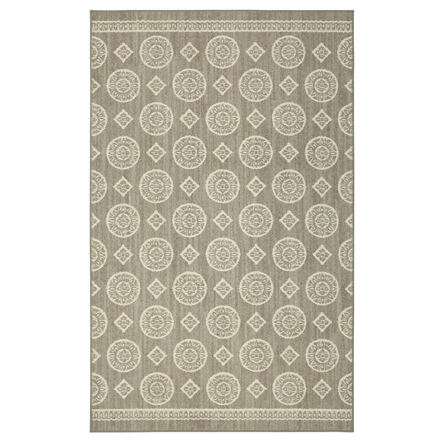 Mohawk Home Colorpoint Grey Rectangular Indoor Tufted Area Rug (Common: 5 x 7; Actual: 60-in W x 84-in L x 0.5-ft Dia)